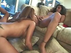 Pretty lesbian vixens in sex party